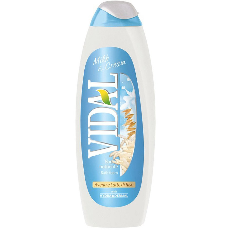 Vidal bath foam milk and cream