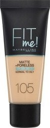 Maybelline Fit Me Matte & Poreless Foundation '105 Natural Ivory 30ml