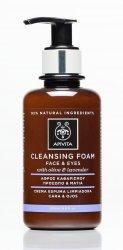 APIVITA Αφρός Καθαρισμού για Πρόσωπο & Μάτια με ελιά και λεβάντα